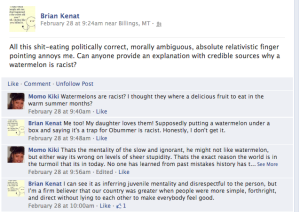 brian kenat shit eating racism